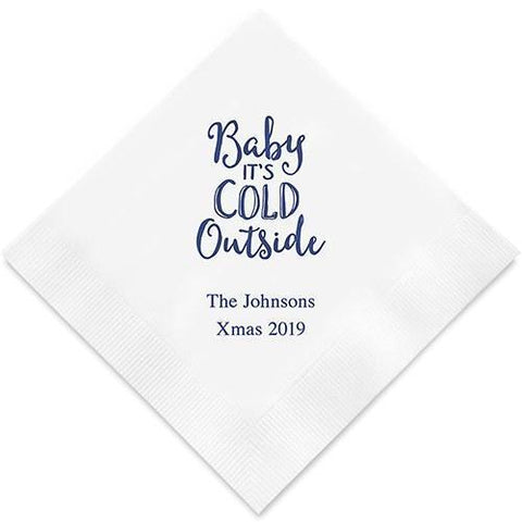 Baby It's Cold Outside Printed Paper Napkins-Jubilee Favors