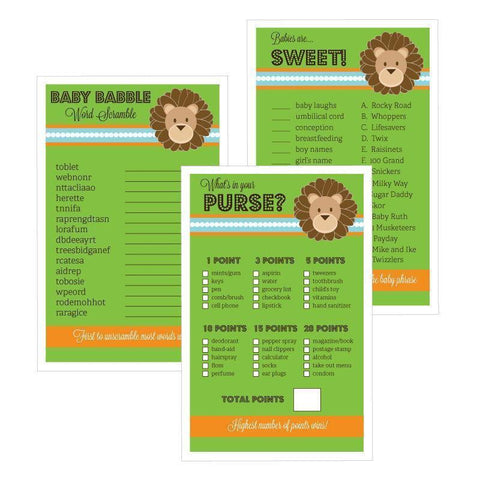 Baby Shower Games (Set of 10) - Jungle Safari-Jubilee Favors