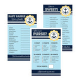 Baby Shower Games (Set of 10) - Nautical Baby Shower-Jubilee Favors