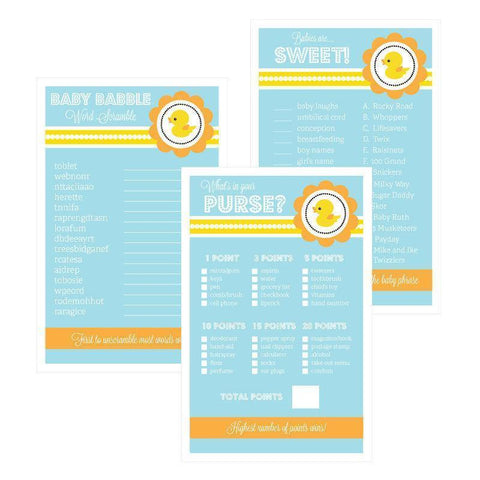 Baby Shower Games (Set of 10) - Rubber Ducky-Jubilee Favors