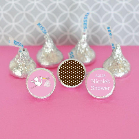 Baby Shower Personalized Hershey's® Kisses Labels Trio (Set of 108)-Jubilee Favors