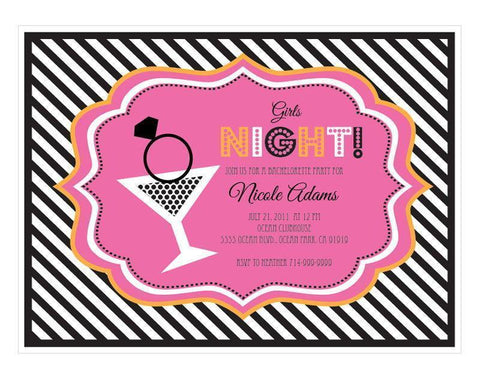 Bachelorette Party Invitations-Jubilee Favors
