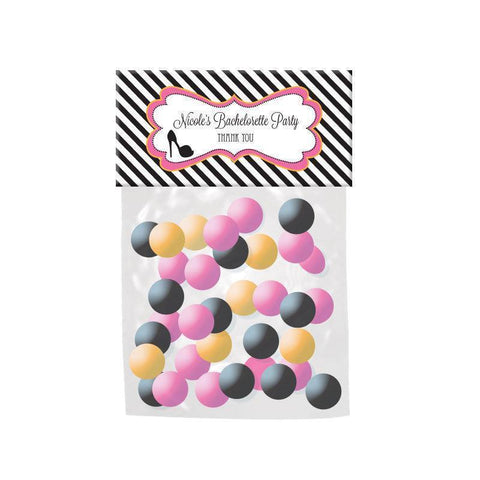 Bachelorette Party Personalized Candy Bag Toppers-Jubilee Favors