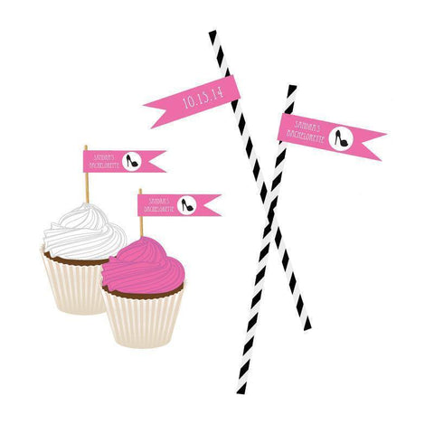 Bachelorette Party Personalized Flag Labels-Jubilee Favors