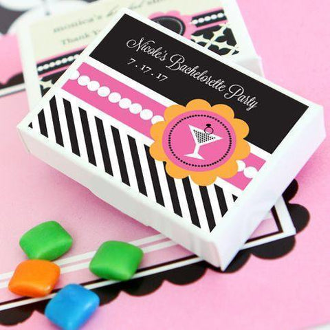 Bachelorette Party Personalized Gum Boxes-Jubilee Favors