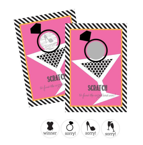 Bachelorette Party Scratch Off Game Cards (Set of 12)-Jubilee Favors