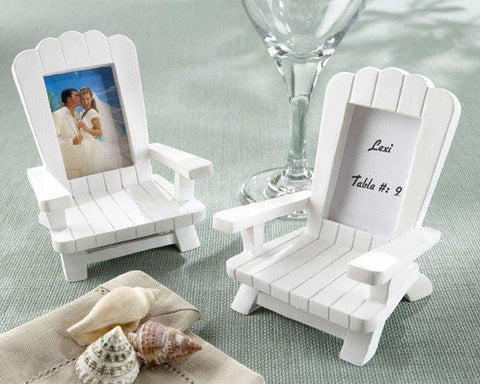 """Beach Memories"" Miniature Adirondack Chair Place Card/Photo Frame (Set of 4)-Jubilee Favors"