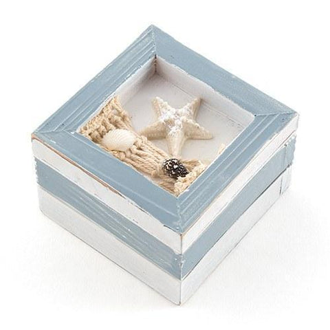 Beach Theme Wooden Trinket Boxes (Set of 12)-Jubilee Favors