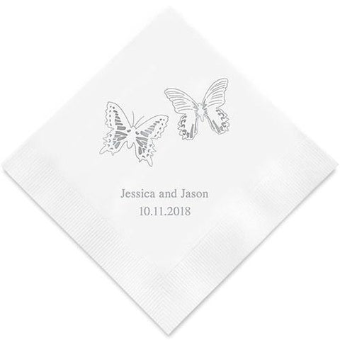 Beautiful Butterflies Printed Paper Napkins-Jubilee Favors