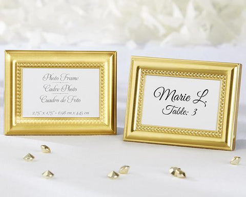 Beautifully Beaded Gold Photo Frame/Place Holder-Jubilee Favors