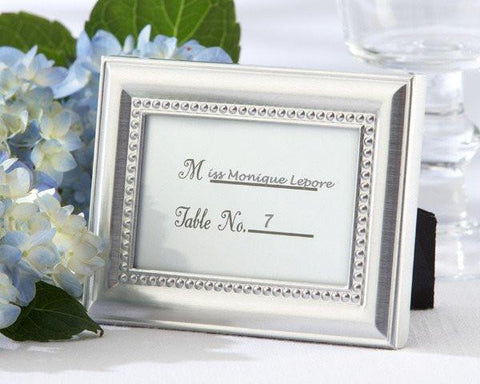 """Beautifully Beaded"" Photo Frame/Placeholder ""As seen in the hit movie 27 Dresses""-Jubilee Favors"
