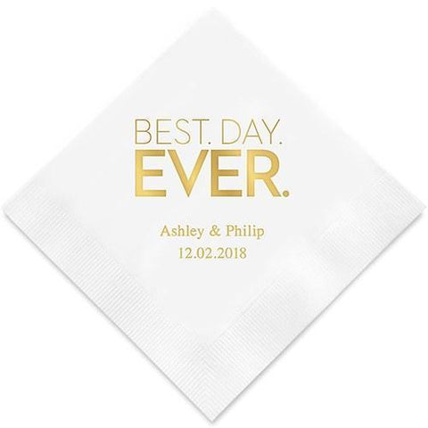 Best Day Ever- Block Style Printed Paper Napkins-Jubilee Favors