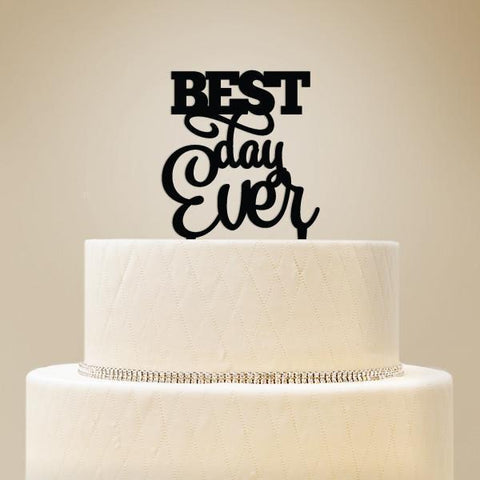 Best Day Ever Wedding Cake Topper-Jubilee Favors