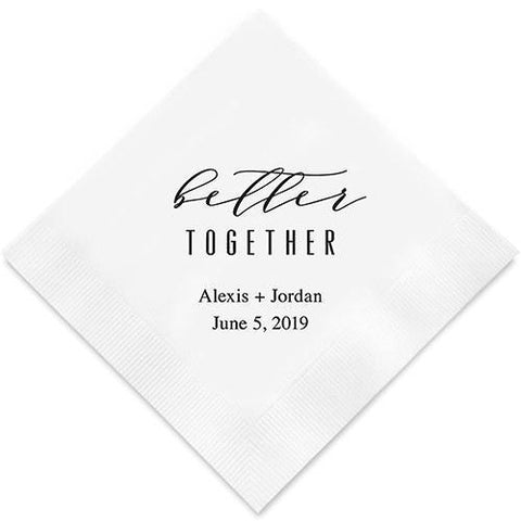 Better Together Printed Napkins-Jubilee Favors