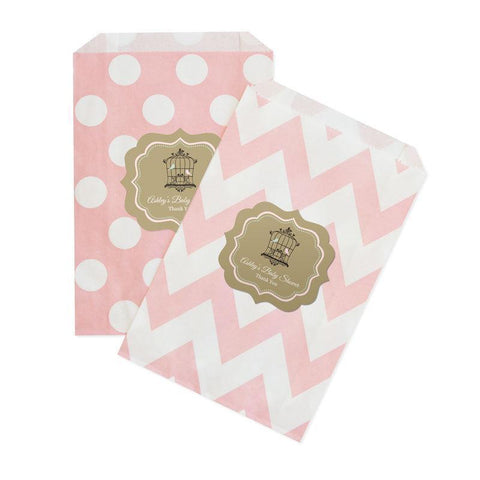 Birdcage Party Chevron & Dots Goodie Bags (set of 12)-Jubilee Favors