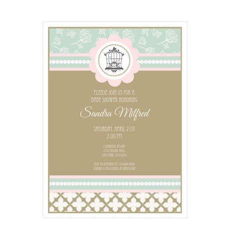 Birdcage Party Invitations-Jubilee Favors
