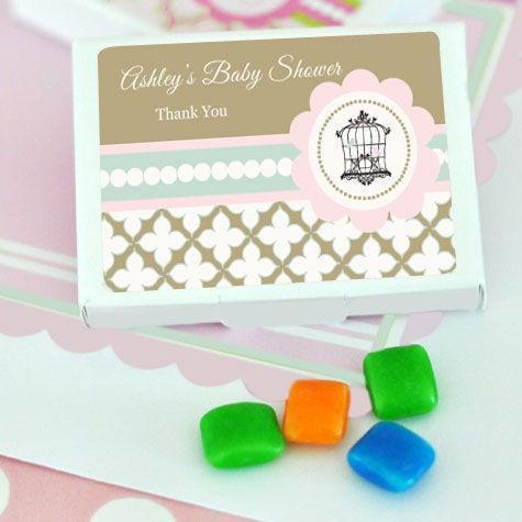 Birdcage Party Personalized Gum Boxes-Jubilee Favors