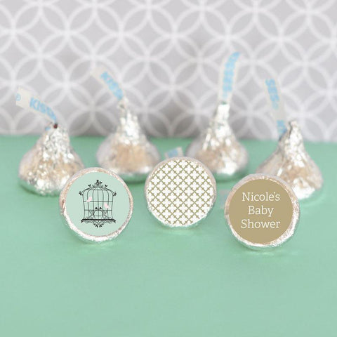Birdcage Party Personalized Hershey's® Kisses Labels Trio (Set of 108)-Jubilee Favors