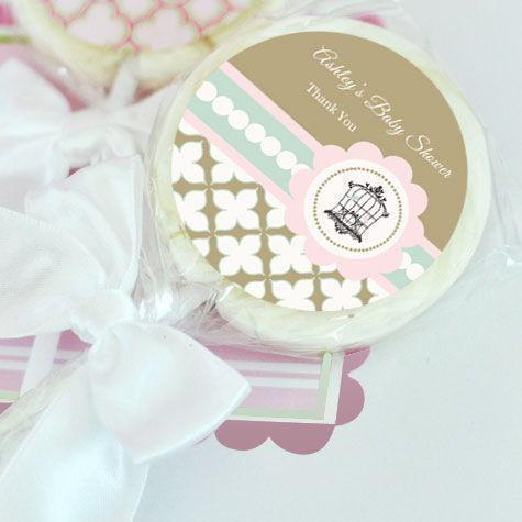 Birdcage Party Personalized Lollipop Favors-Jubilee Favors