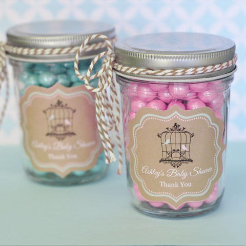 Birdcage Party Personalized Mini Mason Jars-Jubilee Favors
