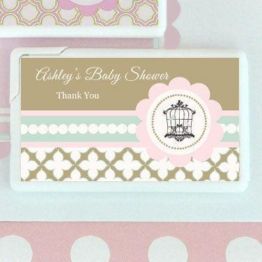 Birdcage Party Personalized Mini Mint Favors-Jubilee Favors