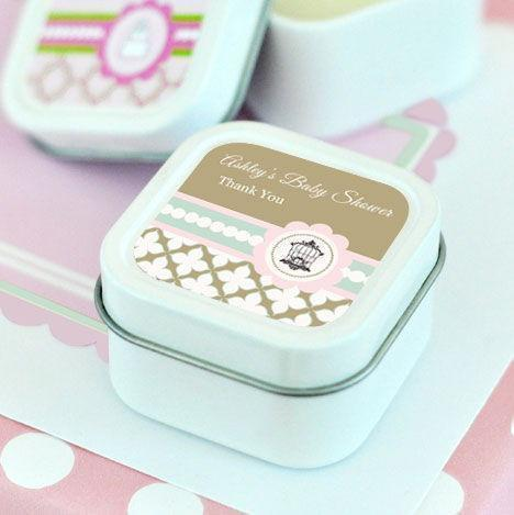 Birdcage Party Personalized Square Candle Tins-Jubilee Favors