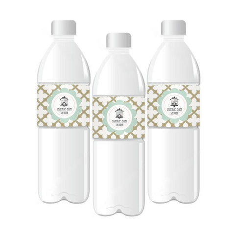 Birdcage Party Personalized Water Bottle Labels-Jubilee Favors