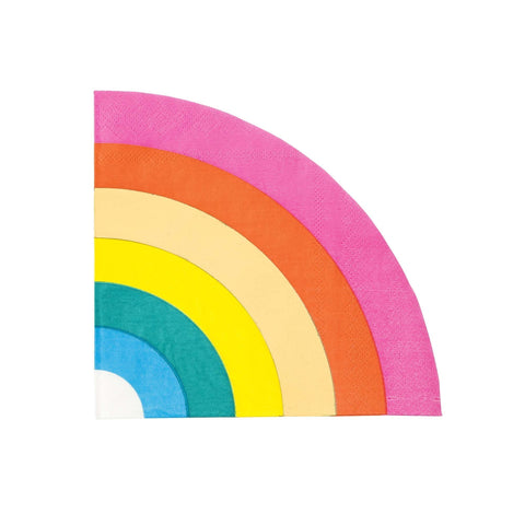 Birthday Brights Rainbow Shaped Napkins-Jubilee Favors