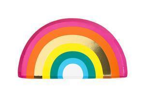 Birthday Brights Rainbow Shaped Plates-Jubilee Favors