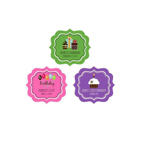 Birthday Personalized Frame Labels-Jubilee Favors