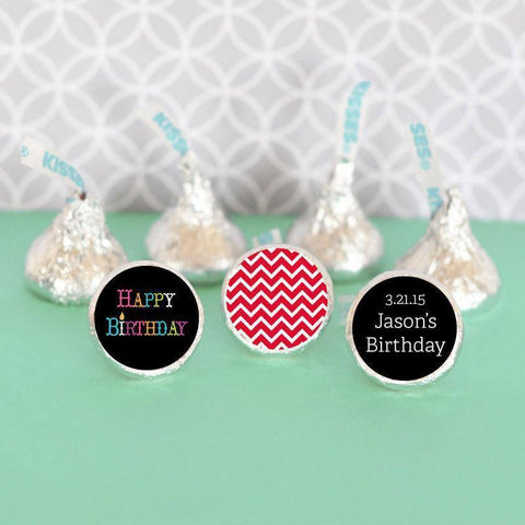 Birthday Personalized Hershey's® Kisses Labels Trio (Set of 108)-Jubilee Favors