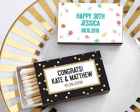 Black Matchboxes - Party Time (Set of 50)-Jubilee Favors