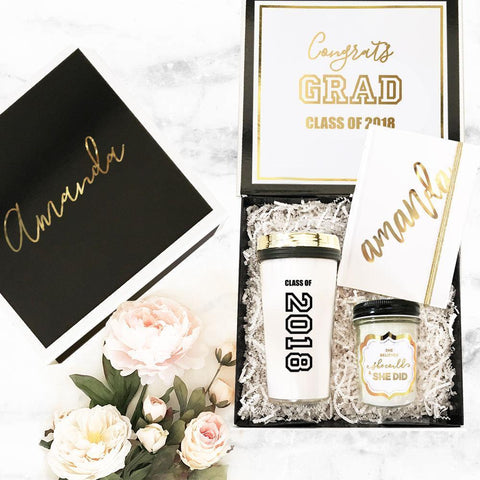Black & White Graduation Gift Boxes-Jubilee Favors