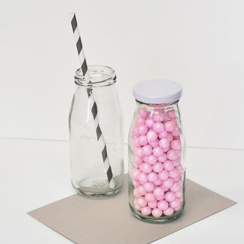 Blank Glass Milk Bottles-Jubilee Favors