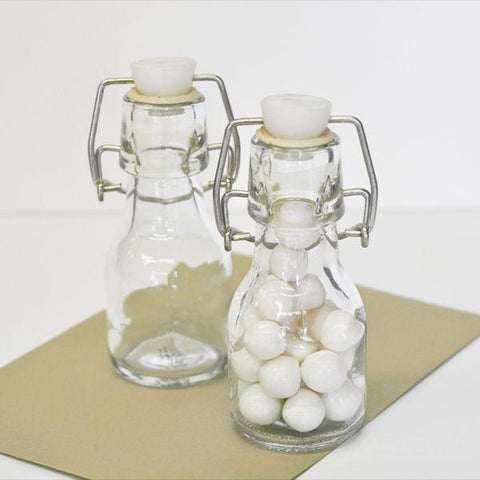 Blank Mini Glass Bottles-Jubilee Favors
