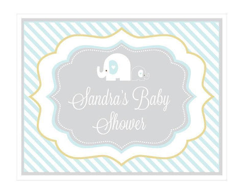 Blue Elephant Party Sign-Jubilee Favors