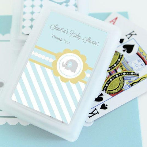 Blue Elephant Personalized Playing Cards-Jubilee Favors