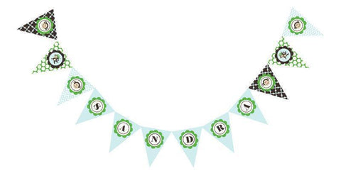 Blue Monkey Party Pennant Banner-Jubilee Favors