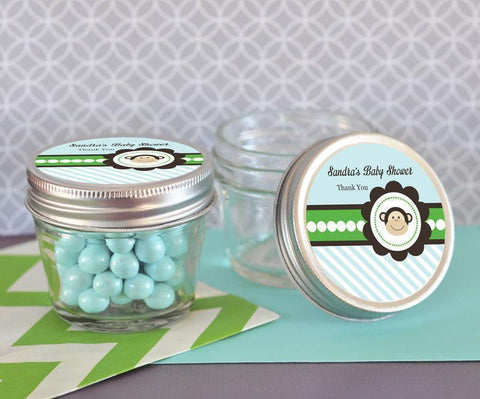 Blue Monkey Party Small 4 oz Mason Jars-Jubilee Favors