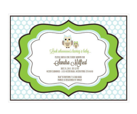 Blue Owl Invitations-Jubilee Favors