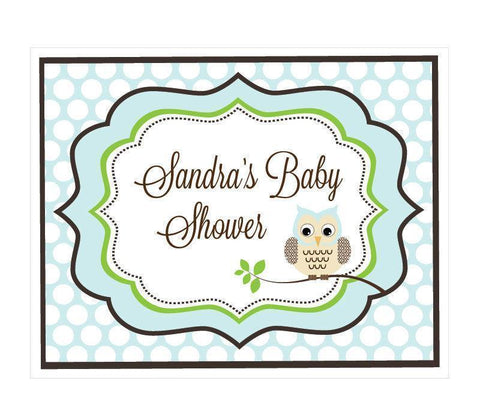 Blue Owl Party Sign-Jubilee Favors
