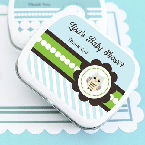 Blue Owl Personalized Mint Tins-Jubilee Favors