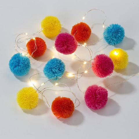 Boho Pom Pom Lights-Jubilee Favors