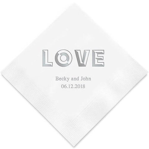 Bold Love Printed Paper Napkins-Jubilee Favors