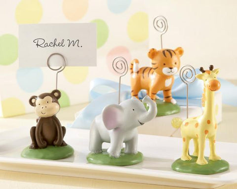 """Born To Be Wild"" Animal Place Card/Photo Holders (Set of Four Assorted)-Jubilee Favors"