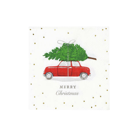 Botanical Berry Car Cocktail Napkin-Jubilee Favors