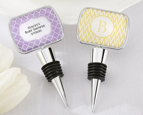 Bottle Stopper With Epoxy Dome - Baby Shower-Jubilee Favors