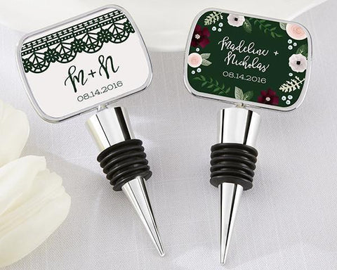 Bottle Stopper with Epoxy Dome - Romantic Garden-Jubilee Favors