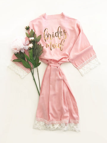 Bridal Party Cotton Lace Robes-Jubilee Favors