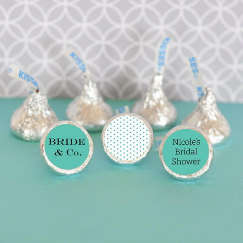 Bride & Co Personalized Hershey's® Kisses Labels Trio (set of 108)-Jubilee Favors